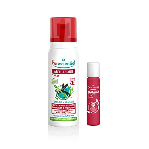 Puressentiel Anti-Pique Duo Spray repulsif et apaisant 75ml + Roller apaisant 5ml