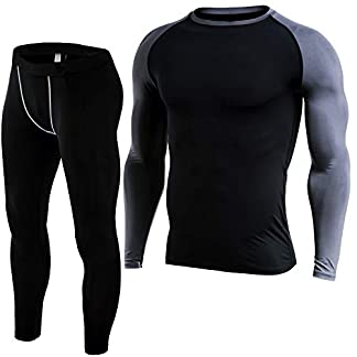 Fit Nation Thermal Underwear Men Set: Long Sleeve Breathable Thermal Base Layers Men - Moisture Wicking, Lightweight and Comfortable for Outdoor Winter Activities including Skiing, Hiking and Snowboarding 16