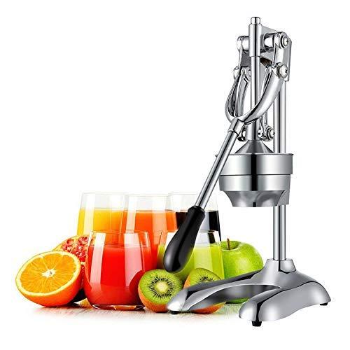 OZAVO Saftpresse manuell, Hebel Zitronenpresse, Zitruspresse, rostfrei Orangen-Limettenpresse Squeezer aus Edelstahl, Profi Juicer Entsafter, Ohne Strom