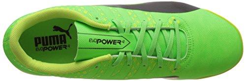 Puma Evopower Vigor 4 Tt, Chaussures de Football Homme Vert (Green Gecko-puma Black-safety Yellow 01)