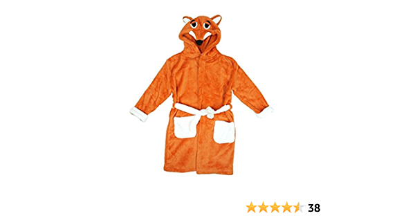 Boys Girls Kids Dressing Gowns Size Age 2 3 4 5 6 7 8 9 10 11 Years Animal Character Robe