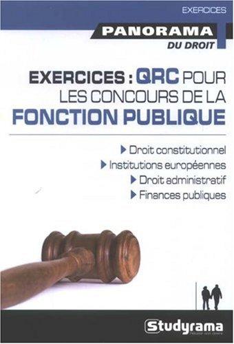 Exercices Qrc pour les Concours de la Fonction Publique par Giraux Denis