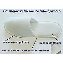 100 pares de zapatillas antideslizante de viaje desechables para Hoteles o spa, color blanco