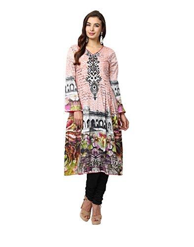 Yepme Candice Semi Stitched Pakistani Kurti - Peach -- YPMRTS0375_Free Size