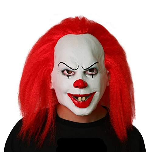 YKQ WS Halloween Scary Clown Maske und Haar COS Thema Party Show, dekorative Requisiten (Scary Für Erwachsene Halloween-party-themen)