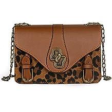 Luckycat Monederos Mujer Shoppers y Bolsos de Hombro Bandolera Nylon Estampado De Leopardo Mujer Bolsos de