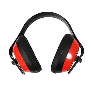 Arceau réglable Vnfire oreilles Ear Defender Muff Silencieux Earmuff de Protection auditive pour intérieur ou extérieur Rouge