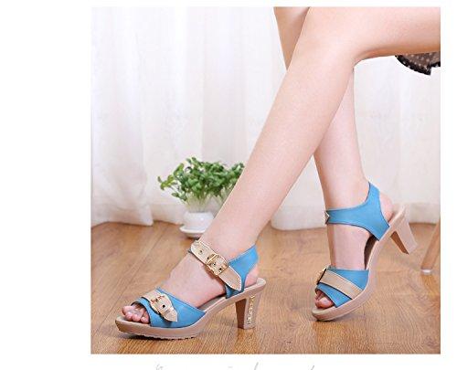 XY&GKEin neues Paar Schuhe Heels Heels Heels und Heels, komfortabel und schön 42 blue
