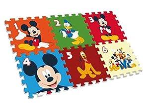 Desconocido Kids- Mickey Alfombra-Puzzle Eva Suelo 90X60 Cm, Multicolor (WD20122)