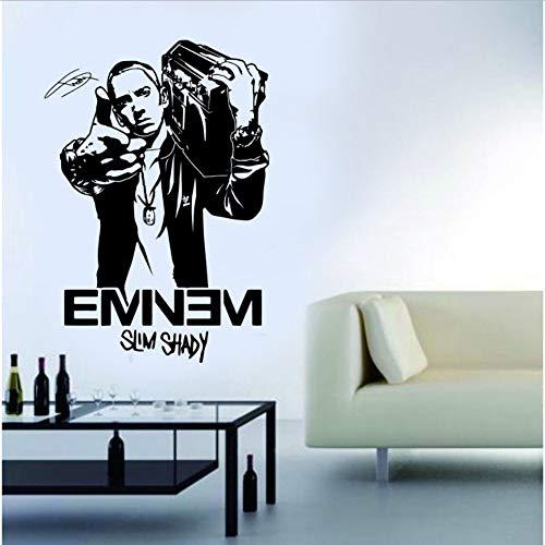 Olivialulu Fashion Design Wandbild Eminem Rapper Vinyl Wandkunst Aufkleber Für Jungen Schlafzimmer Teens Room Decor Manga Wandbild Adesivo De Parede A235 Größe Farbe Kann Angepasst Werden -