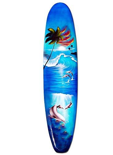 Seestern Sportswear Deko Holz Longboard Surfboard 50cm lang Airbrush Design Surfen Wellenreiten Surf /1656