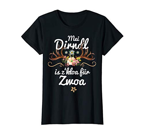 Damen Mei Dirndl is z kloa für Zwoa Schwangere lustige Sprüche Fun T-Shirt