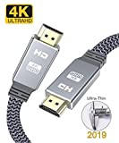 4K HDMI cable 2m, Snowkids 2019 Newest HDMI 2.0 Cable Ultra high speed