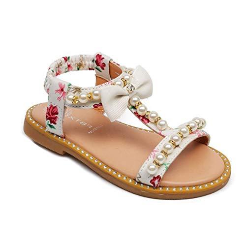 Mädchen Bowknot T Strap Sandalen Kinder Sommer Strand im Freien Slip auf Prinzessin Flache Sandale Schuhe