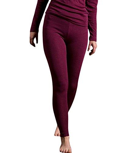 Engel leggings termici in lana merino organica e seta di gelso naturale base Layer Orchidea