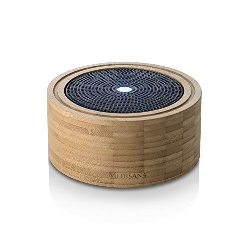 Medisana AD 625 Bambus Ultraschall Aroma Diffuser 100ml - 6-farbiges LED Wellness-Licht - Timerfunktion - Leise - Aromatherapie für Wohnzimmer Schlafzimmer Yoga - ätherische Duftöle - 60083