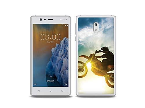 etuo Nokia 3 - Hülle, Silikon, Gummi Schutzhülle Foto Case - Motocross