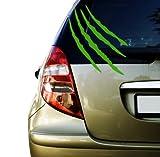 Monster Kralle kratz Spuren Autoaufkleber (Grün)