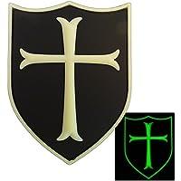 Glow Dark Templar Crusader's Cross US Navy Seals Morale PVC 3D Rubber GITD Hook-and-Loop Patch