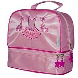 Bolsa Gimnasia y extra escolares para niña en rosa