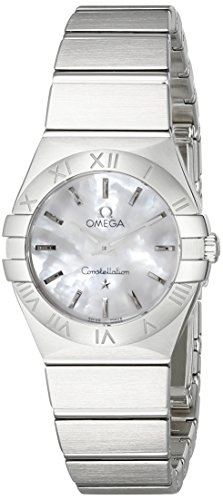 Omega Women's 12310246005001 Constellation Analog Display Swiss Quartz Silver Watch