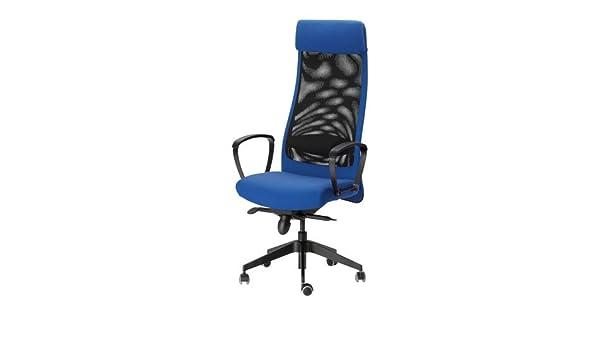 Ikea Markus Swivel Chair Blue Amazon Co Uk Kitchen Home