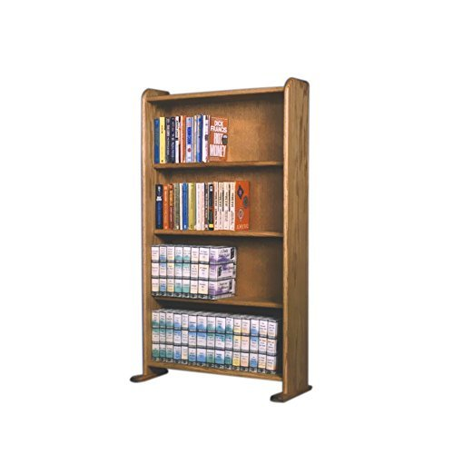 Oak Finish Media (Cdracks Media Furniture Solid Oak Cabinet for DVD, VHS Tapes, Books Honey Finish 407 by CD Racks)