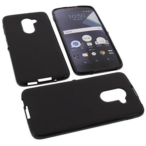 foto-kontor Tasche für BlackBerry DTEK60 Gummi TPU Schutz Handytasche schwarz