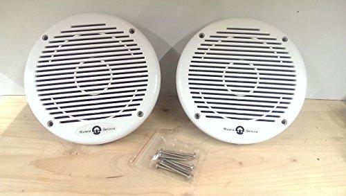 Paar Riviera Lautsprecher, Cover aus Kunststoff, 80W Stereo Wide Range (Boot-stereo-cover)
