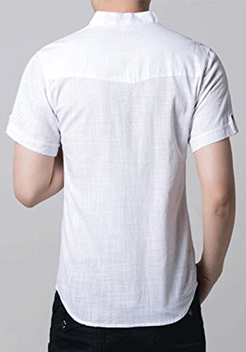 Insun Herren Freizeit-Hemd Weiß
