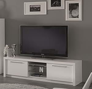 Matelpro-Meuble TV design 180 cm laqué blanc Adamo