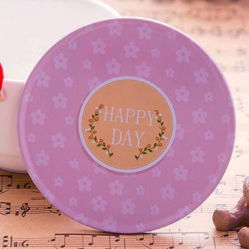 HAHAJY Cartoon Romantische Tassen Pad Holz Tisch Tasse Matte Kreative Dekor Kaffee Trinken Tischset Retro Getränke Untersetzer, Rosa (Eisen-kaffee Dekor)