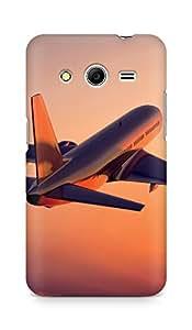 AMEZ designer printed 3d premium high quality back case cover for Samsung Galaxy Core 2 (aeroplane)