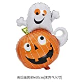 Aeemi Halloween Ballon Set Mix und Match Aluminiumfolie 16 Zoll, Kürbis Ghost Balloon
