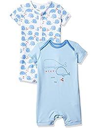 Mothercare Baby Boys Boys Whale 2pk Romper Romper