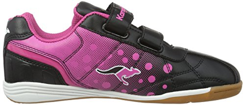 KangaROOS K-Dot, Baskets Basses Fille Noir - Schwarz (black/magenta 565)