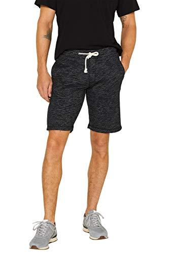 edc by ESPRIT Herren 049CC2C022 Shorts, Schwarz (Black 001), W(Herstellergröße: XL) - Baumwolle Sweat Short