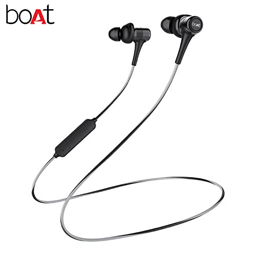 Boat Rockerz 285 Wireless in-Ear Sports Bluetooth Headphone (Active Black)
