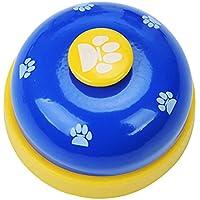 Naisicatar Haustier-Trainingsglocken für Hunde, Welpen, Essen, Klingeln Zum Erlernen von Sauberkeit und Kommunikationsgerät # Blau # x 1