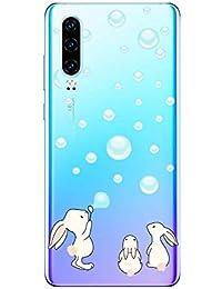 Oihxse Funda para Huawei Y6 Pro 2019/Y6 2019 Transparente, Estuche con Enjoy 9E/Honor 8A Ultra-Delgado Silicona TPU Suave Protectora Carcasa Océano Animal Serie Bumper (C3)