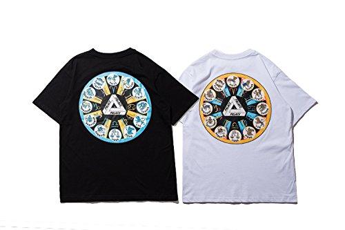 BOMOVO Herren PALACE T-Shirt Kurzarmshirt Print-Shirt Schwarz