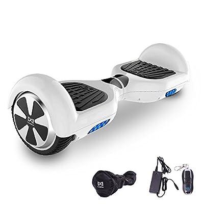 """Cool&Fun Hoverboard Elektro Scooter E-Balance E-Skateboard Gyrogeek 350W*2 6,5"""" von Shop mit Tasche Fernbedienung (White)."""