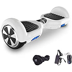 "Cool&Fun Patinete Eléctrico Scooter Monopatín Eléctrico Auto-equilibrio Patín de 6.5"" de Shop Gyrogeek(Blanco)"