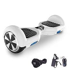 Idea Regalo - Cool&Fun Hoverboard, Self Balance Scooter Elettrico, Balance scooter con LED, Due Ruote 6.5
