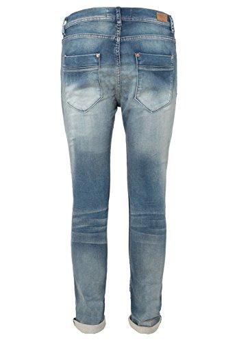 Eight2Nine Herren Sweat-Jeans im Used Look   Black & Dark Blue Sweathose Skinny Fit middle-blue