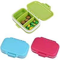 Pill Box Supplement Box, FOONEE Niedliche Medikation Organizer Vitamin Fall, Abnehmbare Fächer Reise Medikamente... preisvergleich bei billige-tabletten.eu
