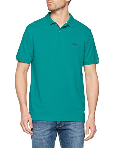 s.Oliver Herren Poloshirt 03.899.35.4505, Grün (Cold Green 7678), X-Large