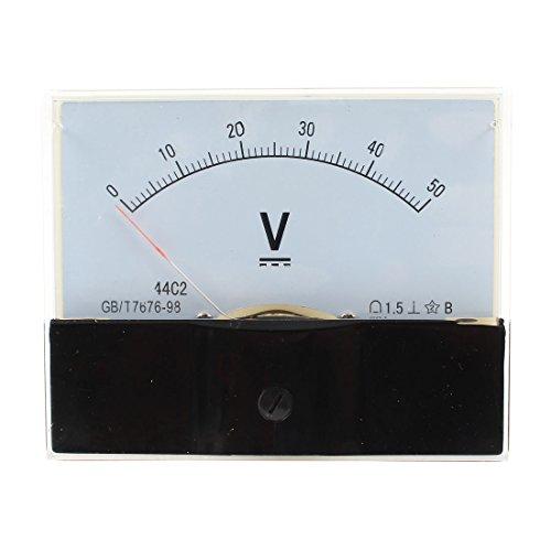sourcingmap® Klasse 1,5DC0-50V Analog Voltage Voltmeter Gauge Panel Volt Meter 44C2 DE de 50v Analog