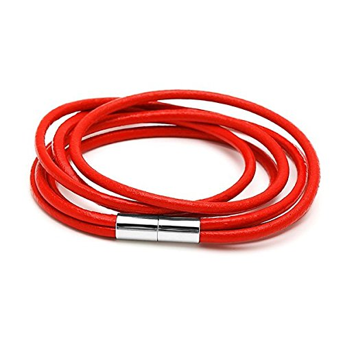Bandes Chic-Net couleurs des bracelets en cuir bracelet cuir triple multicouche fermeture magnétique unisexe