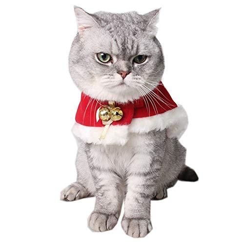 (Fenverk Mode Katze Haustier Kleidung Mantel Weihnachten Outfits Klein KostüM Bekleidung Lustig Hund Kleider Passen Verkleidung Party Zum Hunde(rot,S))